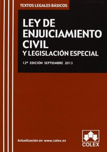 9788483423813: Ley de enjuiciamiento civil y legislación especial ( 12ª ed. - 2013 ) TLB (textos legales basicos)