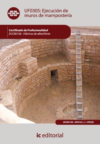 9788483645529: Ejecución de muros de mampostería. eocb0108 - fábricas de albañilería