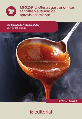 9788483647356: Ofertas gastronómicas sencillas y sistemas de aprovisionamiento. hotr0408