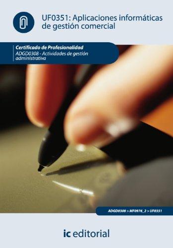 9788483647905: APLICACIONES INFORMATICAS DE GESTION COMERCIAL (AJUS AL CERT DE PROF A