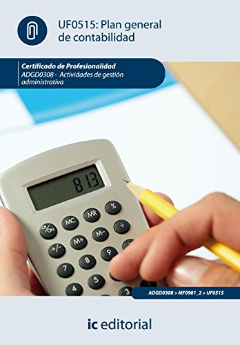 9788483649565: Plan general de contabilidad : actividades de gestión administrativa