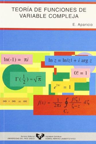 9788483730263: Teoria de funciones de variable compleja