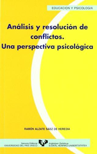 9788483730355: Análisis y resolución de conflictos. Una perspectiva psicológica (Serie de Educación y Psicología)