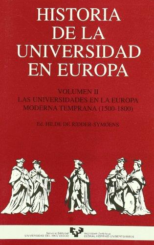 HISTORIA DE LA UNIVERSIDAD EN EUROPA, 2: RIDDER-SYMOENS, H. DE,