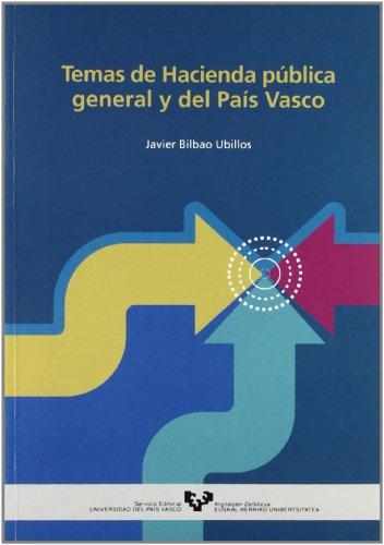9788483734223: TEMAS DE HACIENDA PUBLICA GENERAL Y DEL PAIS VASCO