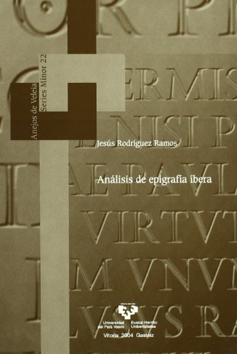 9788483736784: Análisis de epigrafía íbera (Anejos de Veleia. Series Minor) (Spanish Edition)