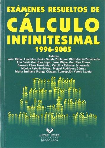 Exámenes resueltos de cálculo infinitesimal, 1996-2005