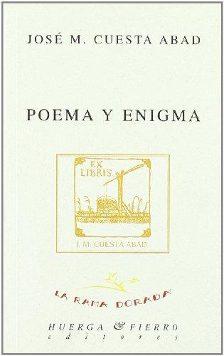 9788483741450: Poema y enigma (La rama dorada - Ensayos literarios)