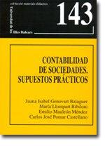 9788483841266: Contabilidad de sociedades: Supuestos prácticos (Materials didàctics)