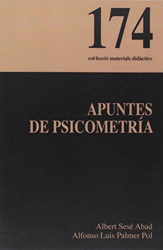 9788483842744: Apuntes de psicometría (Materials Didàctics)