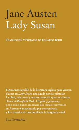 9788483930687: Lady Susan (La Compañía)
