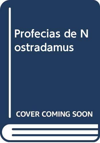 9788484032618: Profecias de nostradamus