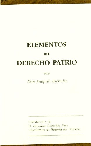 Elementos de Derecho Patrio