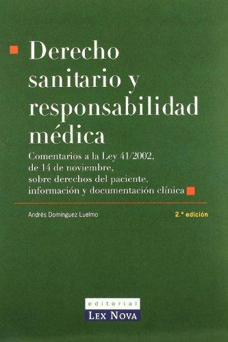 9788484067276: Derecho Sanitario y responsabilidad médica (Monografía)
