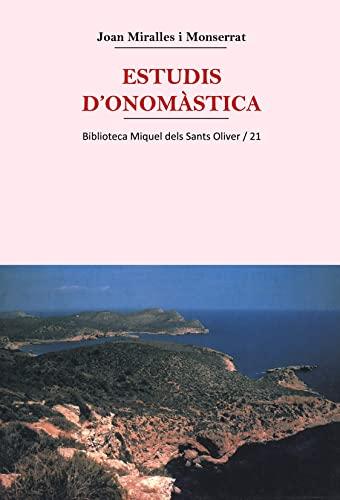 9788484155263: Estudis D'Onomastica (Biblioteca Miquel Dels Sants Oliver)