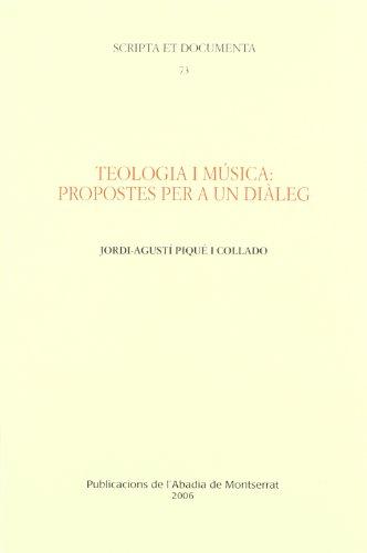 9788484158219: Teologia i música: propostes per a un diàleg