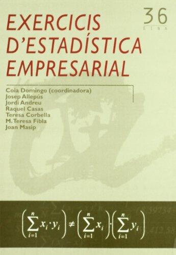 9788484240761: Exercicis d'estadística empresarial (Eina)