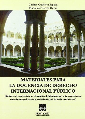 9788484258353: Materiales para la docencia de derecho internacional publico