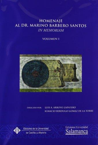 9788484271390: Homenaje al profesor Marino Barbero Santos