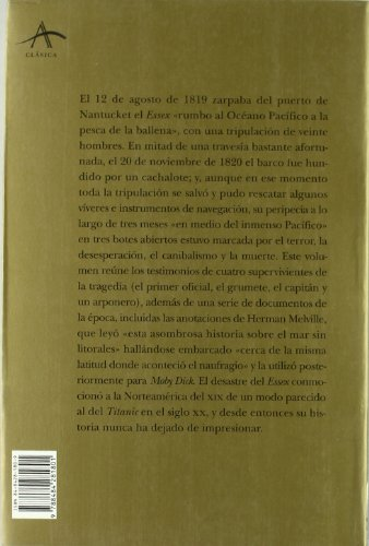 El desastre del Essex / the Disaster of Essex: Hundido Por Una Ballena (Spanish Edition) (8484281809) by Owen Chase