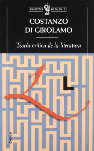 9788484321521: Teoría crítica de la literatura (Biblioteca de Bolsillo)