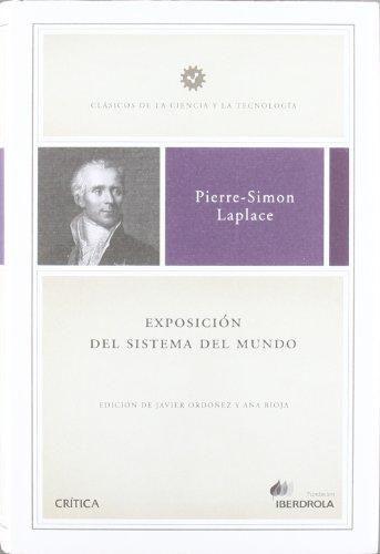 Exposición del sistema del mundo: Pierre-Simon Laplace; Javier