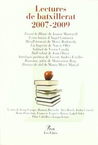 9788484372769: Lectures de batxillerat 2007-2009 (Les Eines)