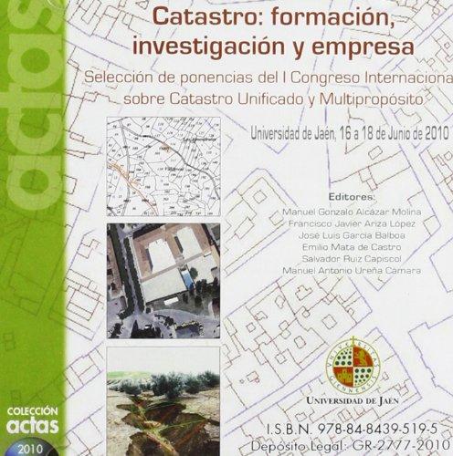 CATASTRO:FORMACION, INVESTIGACION Y EMPR: ALCAZAR MOLINA, MANUEL