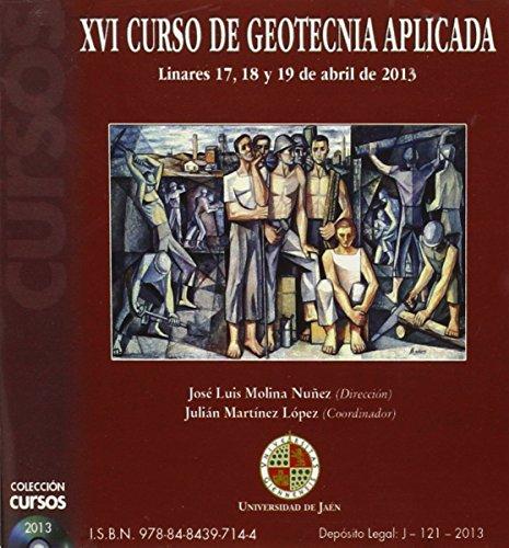9788484397144: XVI curso de geotecnia aplicada: Escuela Politécnica Superior de Linares 17, 18 y 19 de abril de 2013 (Cd cursos)