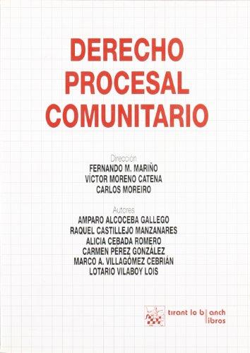 9788484422334: DERECHO PROCESAL COMUNITARIO.