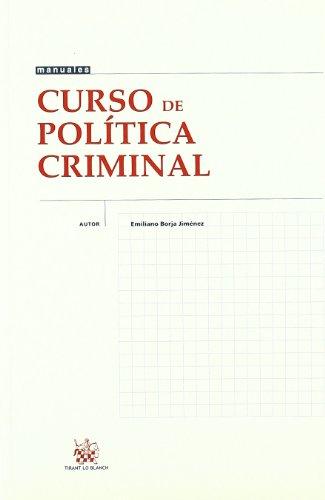 9788484427667: Curso de Política Criminal