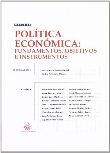 9788484428862: Política económica : Fundamentos, objetivos e instrumentos