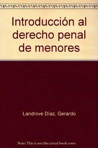 9788484429449: Introducción al Derecho Penal de Menores