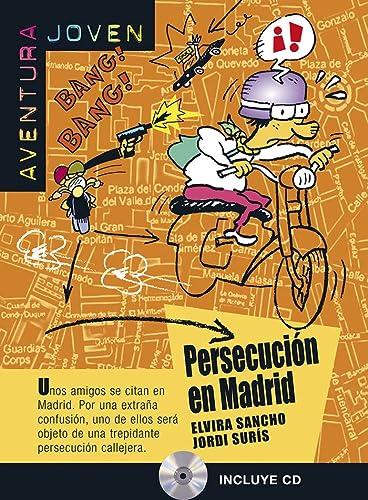 9788484432722: Persecución en Madrid. Serie Aventura Joven. Libro + CD (Ele- Lecturas Gradu.Jovenes)