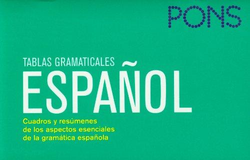 Tablas gramaticales Español. Nueva edición (Pons- Tablas: editorial