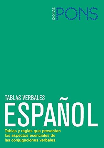 Tablas verbales Español. Nueva edición (Pons -: Editorial