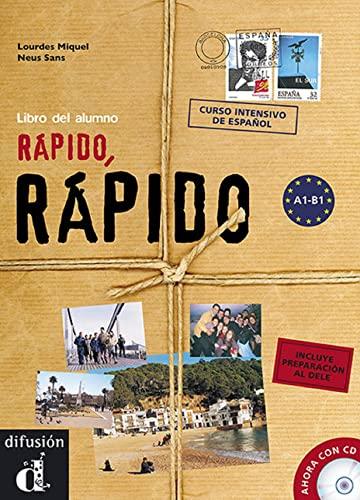 9788484434610: Rapido, Rapido - Curso Intensivo De Espanol: Libro Del Alumno + CD + Dele - Level A1-B1 (Spanish Edition)