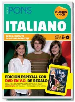 9788484435303: Curso Completo Pons Italiano (2 libros + 4 CD + DVD) (Pons- Curso Autoaprendizaje)