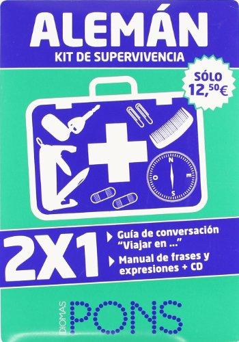 9788484436171: Kit de supervivencia Aleman (2 libros + 1 CD)