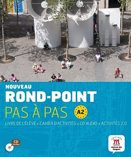 9788484436669: Nouveau Rond-Point pas à pas A2 - Libro del alumno + Cuaderno de ejercicios + CD: livre de l'élève + Cahier d'activités + CD (Fle- Texto Frances)
