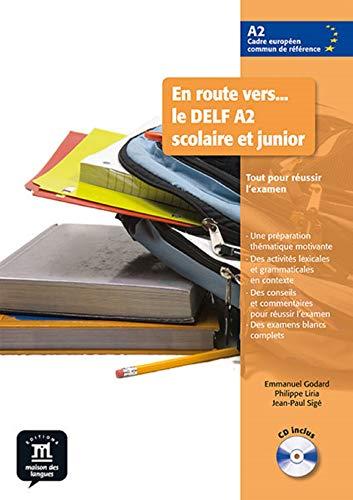9788484436690: En route vers le DELF scolaire et junior A2 Libro del alumno + CD: livre de l'élève + CD (Fle- Texto Frances)