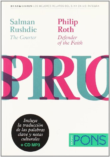 """9788484436782: Colección Read & Listen - Salman Rushdie """"The courter""""/Philip Roth """"Defender of the faith""""+ mp3 (Pons - Read & Listen)"""