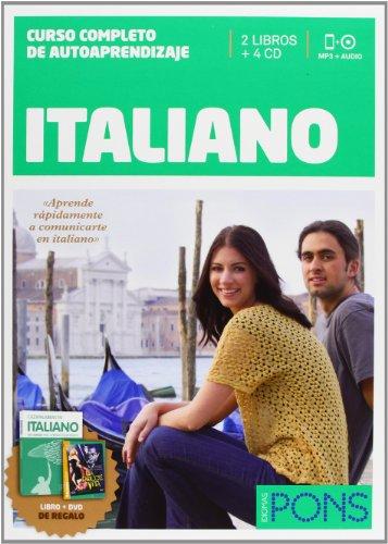 9788484439257: Curso Pons Italiano - 2 LIBROS+4 CD?S+CAZAPALABRAS+DVD