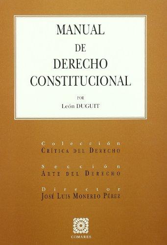 9788484449867: MANUAL DE DERECHO CONSTITUCIONAL