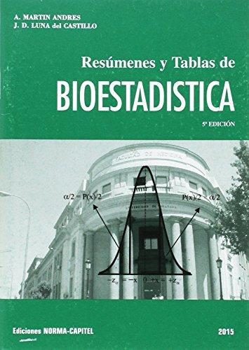 9788484510482: Resúmenes y tablas de bioestadística 2011 (Textos universitarios)