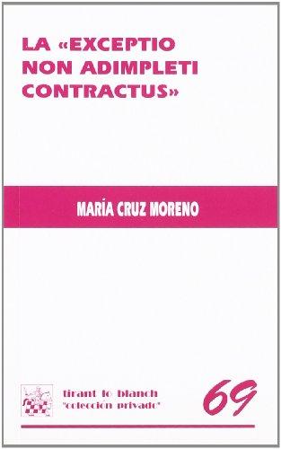 9788484560371: La Exceptio non Adimpleti contractus