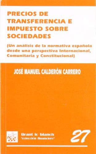 Precios de transferencia e impuesto sobre sociedades: José Manuel Calderón