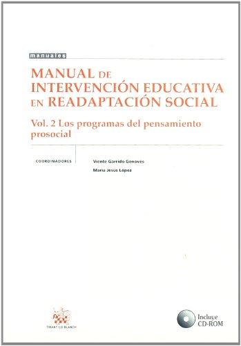 9788484565017: Manual de Intervención Educativa en Readaptación Social Vol. 2 los Programas del Pensamiento Prosocial