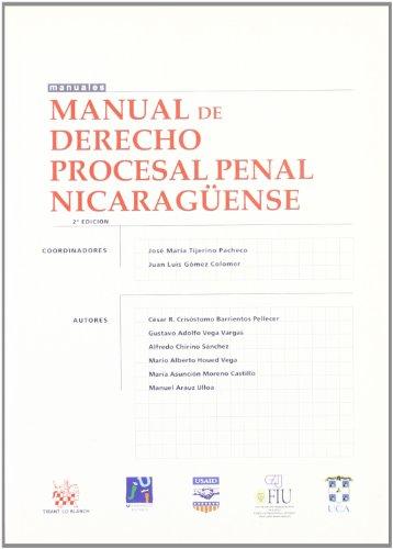 9788484565499: Manual de Derecho Procesal Penal Nicaragüense