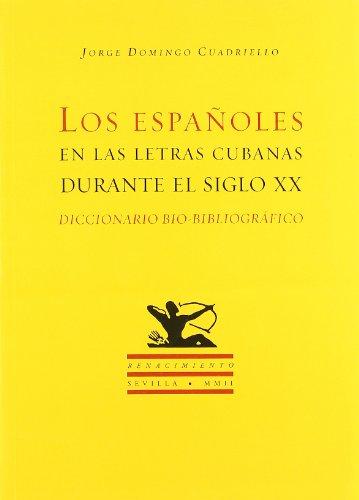 Los espa?oles en las letras cubanas durante: Unknown.